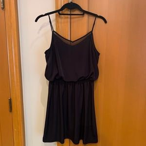 Black cinched waist dress